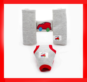 carseat harness and buckle red
