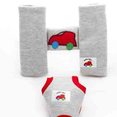 Set of Y-shaped cover and H-shape harness for a Pram - Red